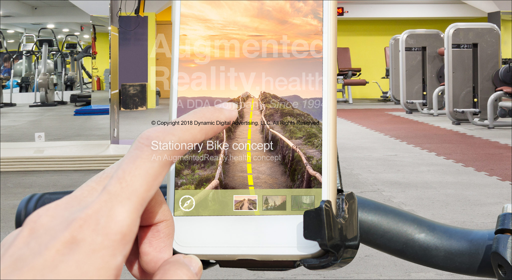 Stationary Bike Travel Augmented Reality Application