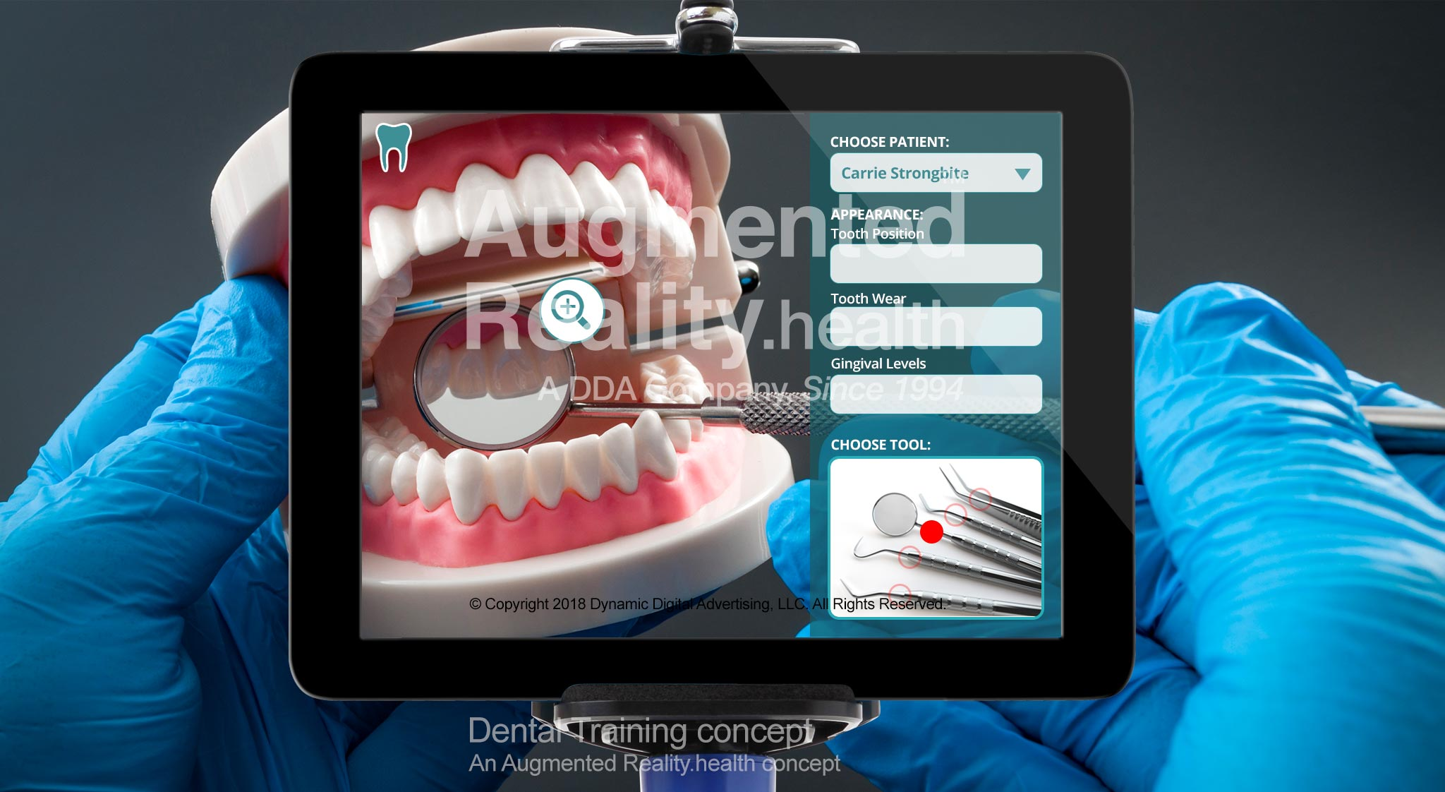 Dental Training Augmented Reality Application