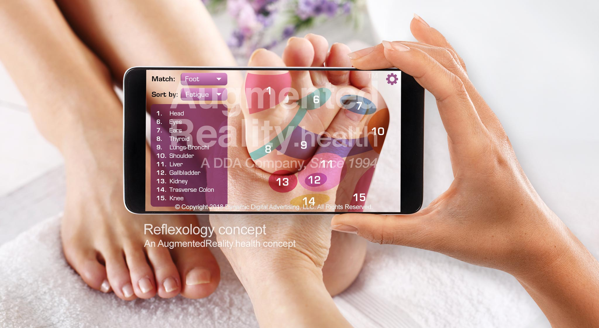 Reflexology Augmented Reality Application