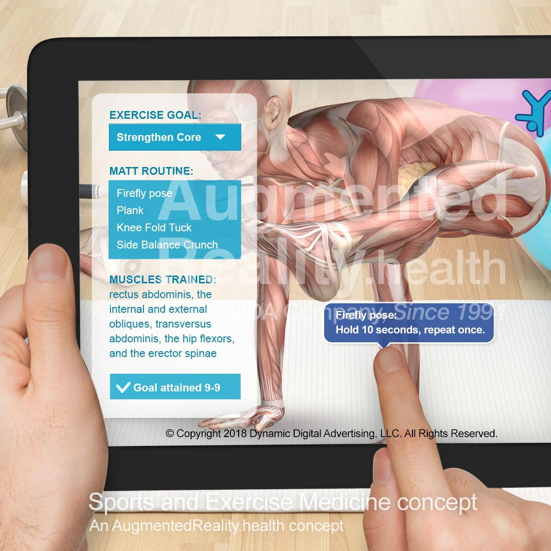 Sports & Exercise Medicine AR App Concept